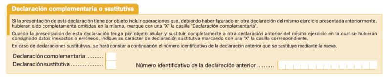 rellenar el modelo 347 parte declaración sustitutiva