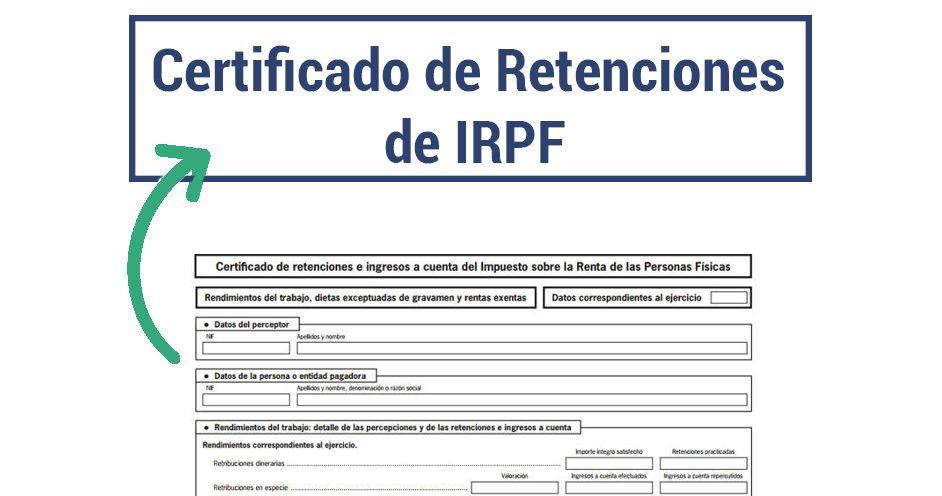 Certificado de Retenciones