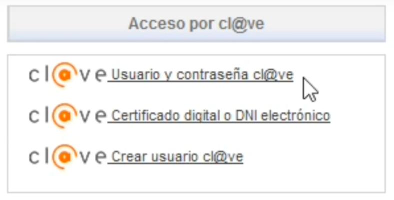 sistema cl@ave Datos de contaste. Pasos solicitar certificado desempleo - EPAE
